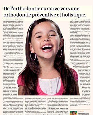 De l'orthodontie curative vers une orthodontie préventive - ODENTH ODontologie ENergétique et THérapeutique