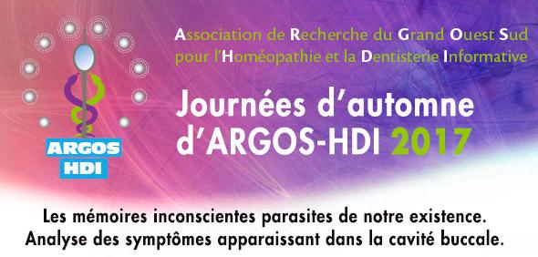 Journées d'automne formation ARGOS-HDI-2017