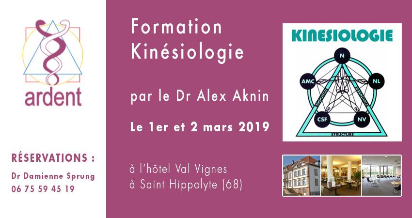 Formation de Kinésiologie par le Dr Alex AKNIN, chirurgien dentiste