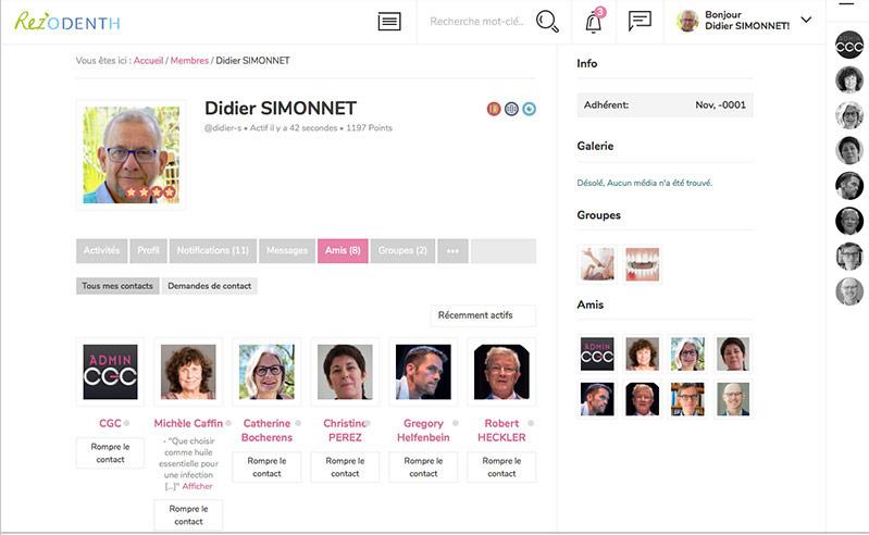 page amis du Rez'Odenth, le réseau des desntistes adhérents à Odenth