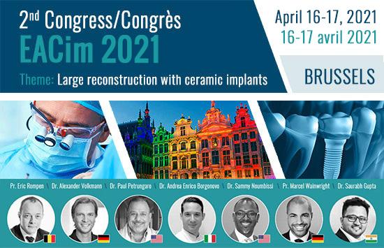 2ème Congrès EACim - le 16 Avril 2021 - Hotel Le Plaza à Bruxelles